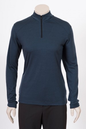 Ladies Sharp Merino Zip Shirt