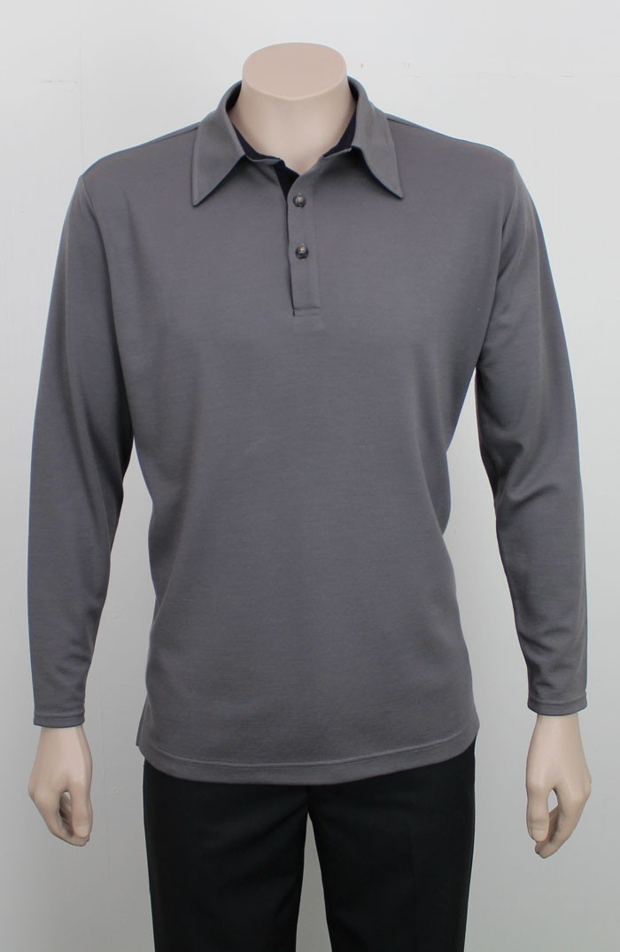 Merino Long Sleeve Polo