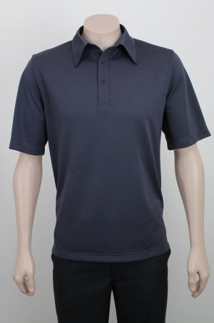 Pinhole_Breathable_Polo_Charcoal_Front