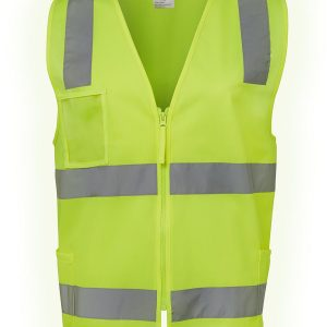 Hi Viz Day Night Zip Safety Vest