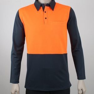 Hi Vis Polo Long Sleeve