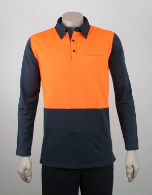 Hi Viz Panel Polo Long Sleeves