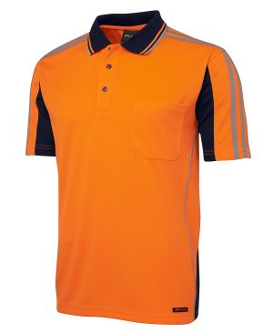 Hi Vis Arm Tape Polo Shirt