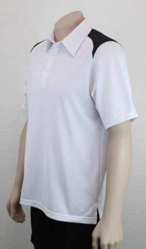 Shoulder Contrast Polo WhtBlk 2
