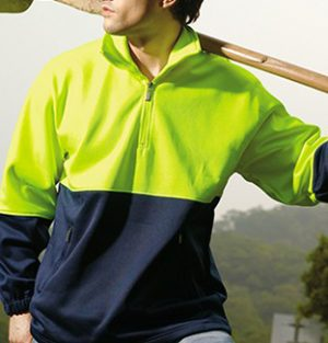 Hi Vis Zip Safety Fleece