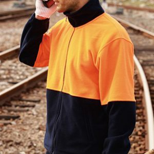 Full Zip Hi Vis Fleece Jacket