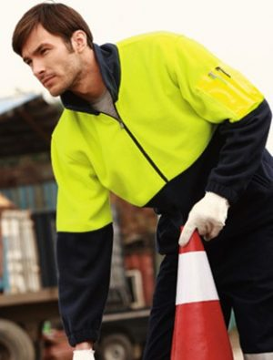 Half Zip Hi Vis Fleece